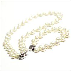 White Pearl & Rose Jewellery Set