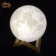 3D Magical Moon Lamp Charging Moon Night Light White Moonlight Valentines Gift #Unbranded #Moonlamp
