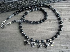 Black+Onyx+Sterling+Silver+Pendant+Charm+by+2di4jewelryoriginals,+$70.00