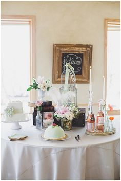 #Vintage #Parisian Inspired #Bridal #Brunch by Connie Dai Photography #tablescape #centerpiece #vignette