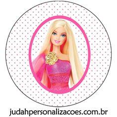 Aqui tem o kit festa completo da Barbie.