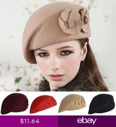 1db9161bdd593 Wool Felt Elegant Women French Style Beret Beanie Warm Pillbox Hat Tam Cap