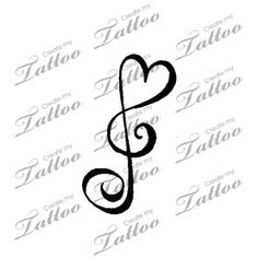 Music Note Love Song Notes, Music Notes, I Tattoo, Cool Tattoos, Create My Tattoo, Treble Clef, Custom Tattoo, Tattoo Designs, Ink