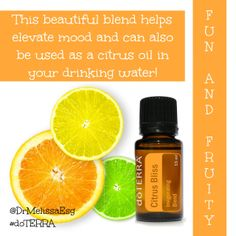 Citrus Bliss has so many great uses and it smells yummy! Doterra Citrus Bliss, Doterra Blends, Aroma Essential Oil, Citrus Oil, Yoga Everyday, Massage Therapy, Natural Healing, Drinking Water, Grapefruit