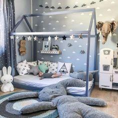 21 Super Cute Floor Bed Designs For Kids Room Decor - Kids Bedroom Boys, Baby Boy Rooms, Teen Bedroom, Baby Boy Bedroom Ideas, Kid Bedrooms, Room Baby, Nursery Ideas, Toddler Boy Room Ideas, Ikea Toddler Room