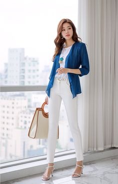 Korean Women`s Fashion Shopping Mall, Styleonme. Classy Outfits, Casual Outfits, Suit Fashion, Fashion Outfits, Business Casual Womens Fashion, Korean Outfit Street Styles, Foto Casual, Stylish Dresses For Girls, Korean Girl Fashion