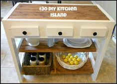 Woodworking How To 30 kitchen island made with diy, how to, kitchen design, kitchen island, woodworking projects - Wow! Hard to believe this was handmade. Kitchen Island Makeover, Stools For Kitchen Island, Kitchen Islands, Kitchen Cart, Island Bench, Homemade Kitchen Island, Island Cart, Kitchen Counters, Cuisines Diy