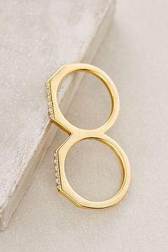 Elizabeth and James Two-Finger Arctic Ring #anthropologie
