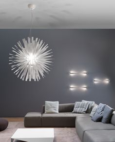 Danish architect Brian Rasmussen has designed Alrisha, a suspension or wall lamp for Italian manufacturer Axo Light. Alrisha is another name for the Deco Design, Lamp Design, Architecture Design, Architectural Lighting Design, Mod Furniture, Wall Mounted Light, Kartell, Modern Lighting, House Colors