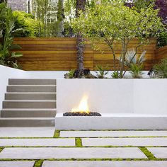 concrete bench retaining wall