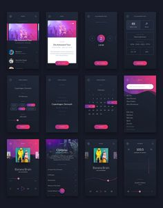 Must-have premium UI Kit for mobile music related apps. 30 carefully designed mobile screens will help you to prototype design & build any music related app.There is everything that you need for music related app main features are music player FM pla Ios App Design, Mobile App Design, Interface Design, Android App Design, Mobile Ui, User Interface, Ui Design Tutorial, App Design Inspiration, App Musica