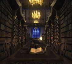 Hogwarts Library - Harry Potter Wiki - WikiaThe Hogwarts Library is located off of a corridor on the first-floor of Hogwarts Castle and contains tens of thousands of books on thousands of shelves. Harry Potter Fan Art, Harry Potter Books, Harry Potter World, Magical Library, Nicolas Flamel, Hogwarts Library, Classe Harry Potter, Library Art, Fantasy Places