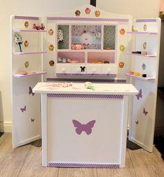 Kaufladen weiß lila Cupcakes