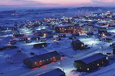 Nunavut, Canada  seems so.......different from the high rise city skyline, traffic, 9-5 schedule. would love to check it out