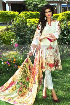 #motifzembroideredlawn #lawn #motifzlawn #motifz #brandedlawn MWU00993-999-OFF-WHITE Item Type: UN Stitched Three Piece, Shirt Fabric: Lawn, Includes: Front, Back, Sleeves, Crinkle Digital Printed Dupatta, Pure Cotton Trouser Retail Price: 5,890