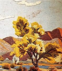 Textiles, Feminism, Hand Embroidery, Needlework, Landscapes, Cross Stitch, Trees, Japanese, Quilts