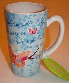 weekend giveaway! THIS IS THE DAY latte mug- Multiple Blessings by Caroline Simas :)