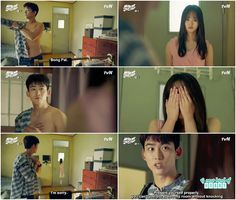 Scenes this always make me laugh it's not you're a girl yet they always cover up… Bring It On Ghost, Lets Fight Ghost, Korean Dramas, Korean Actors, Ghost Scene, Moorim School, Best Kdrama, Drama 2016, Kim Sohyun