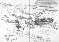 sketch ideas for early spreads. pencil in visual diary #thunderstormdancing