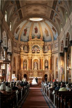 SHUT UP. If I were to ever want to get married in a church, it would be the Shrine of St. Joseph, in St. Louis, Missouri. So gorgeous.