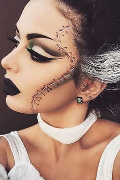 Maquillaje artístico Pretty Halloween Makro Idmaquilñeas You'll Love ★ See more…