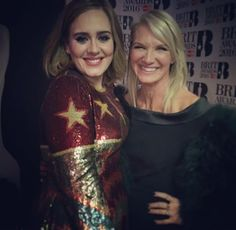 Adele and Jo Whiley at the 'BRIT Awards 2016'