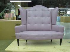 EFLM Mangeaise upholstered in Edelman Leather calfskin Super Soft Thistle