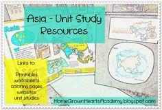 Asia Unit Resources #Homeschool #Unitstudy #Asia