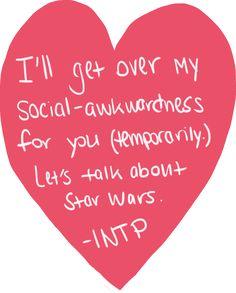 "sassyenfj: ""Valentines fom the types. (Introverts.) """