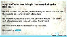 Inspiring feats - My grandfather was living in Germany during the Holocaust.