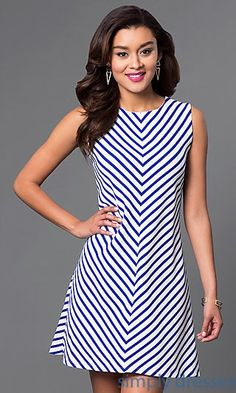 97c4e02e39 Shop striped casual dresses and homecoming dresses at Simply Dresses.  Semi-formal day dresses