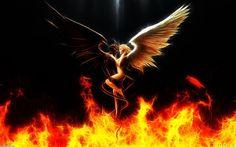 half angel half devil girl | Angels And Demons Half Angel Demon Statue Wallpaper Images