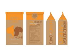brown & orange cereal packaging