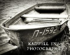 Old Row Boat in Kazakhstan Black and White 8x10 by KEnzPhotography, $30.00