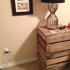 Pallet night stand  Total cost = $6 :)