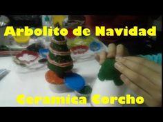 Manualidades De Navidad, Arbolito De Navidad, Ceramica En Frio Tipo Corcho - YouTube