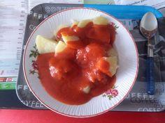 Paradicsomos húsgombóc - ezúttal krumplival :-)