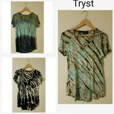 Tryst tops bundle of 3 95 % rayon  5 % spandex  Very good condition  No stain or rip Tryst Tops Tees - Short Sleeve