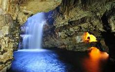 Smoo Cave, Durness, Scotland - Second Chamber, Waterfall and Third Chamber entrance Waterfall Wallpaper, Cool Photos, Interesting Photos, Entrance, Scotland, Travel Destinations, Journey, World, Places