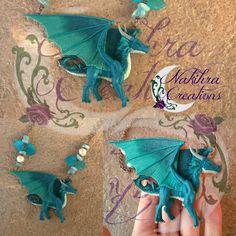 Saphira dragon polymerclay by Nakihra.deviantart.com on @DeviantArt