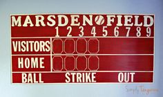 How to make a Pottery Barn Kids inspired personalized vintage scoreboard