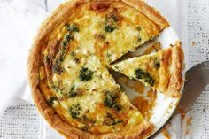 Family spinach and bacon pie main image Dairy Free Recipes, Gourmet Recipes, Cooking Recipes, What's Cooking, Gluten Free, Coles Recipe, Bacon Pie, Tacos, Cooking For A Crowd