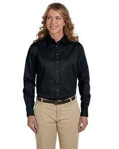 ba2c459e Harriton Womens Wrinkle Resistant Blend Long Sleeve Button Down Shirt