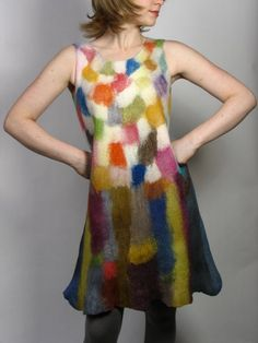 I love this felted dress. Looks like a painting!