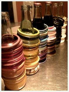 What a cool idea for bracelet storage and reusing soda bottles. Bracelet Storage, Jewelry Storage, Girly Things, Good Things, Girly Stuff, Storage Ideas, Organization Ideas, Organizing, Soda Bottles