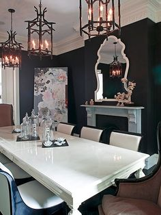 Glamourous dining room  #decor #interiordesign #design #colors #dining