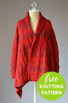 Knit the perfect layering piece! This textured turtle-neck poncho from Universal Yarn is a free pattern featuring self-striping Major. Knitting Patterns Free, Knit Patterns, Free Knitting, Free Crochet, Free Pattern, Knit Crochet, Sweater Patterns, Knitting Stitches, Crochet Pattern