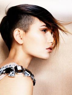 punk short hair