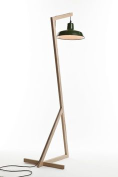 Freestanding wooden lamp by Benjamin Boyce - http://www.hollys-house.com/collections/lighting/products/floor-lamp-by-benjamin-boyce #WoodenLamp