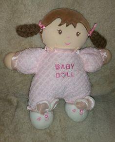 """Geoffrey """"Especially For Baby"""" Baby Doll plush Girl Dolls, Baby Dolls, Baby Baby, Baby Kids, Babies R Us, Preschool Toys, Pink Hair, Plush, Teddy Bear"""